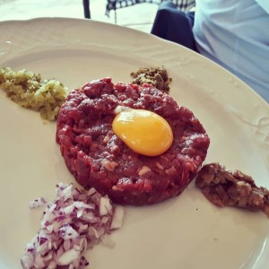 Steak tartare en Tejas Verdes